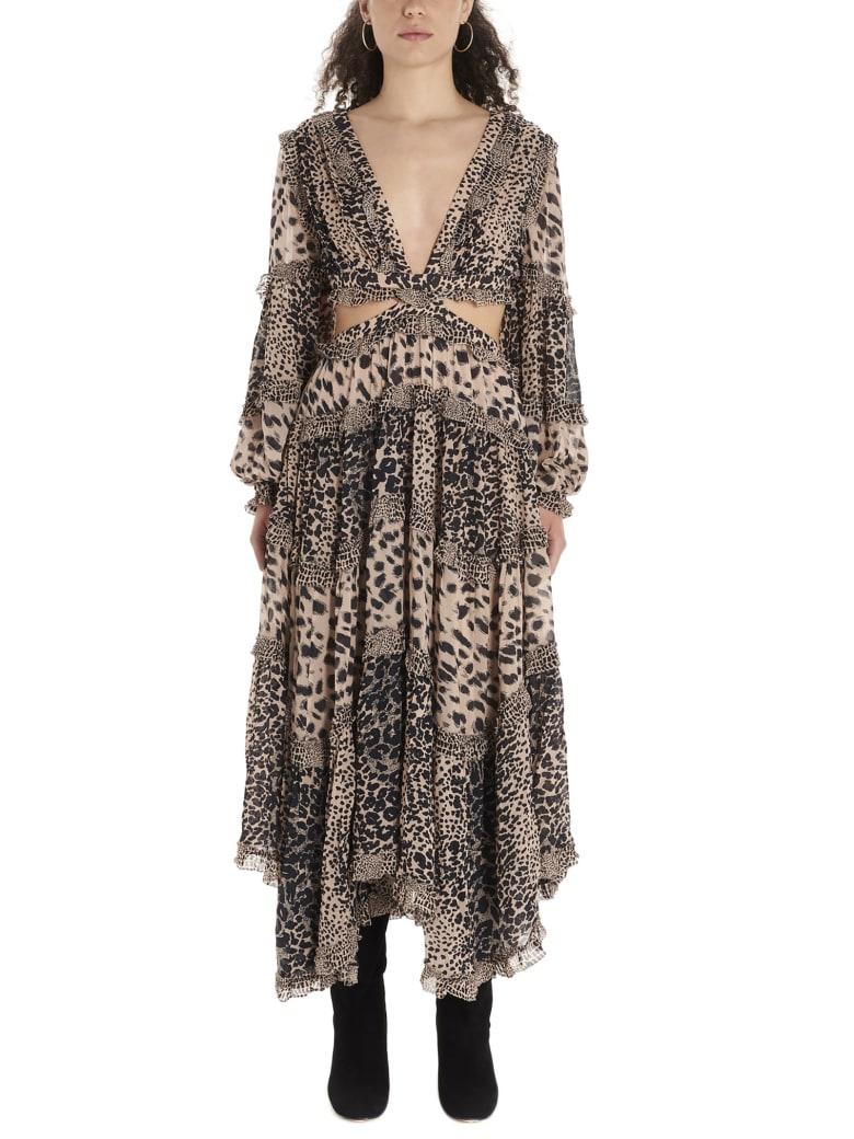 Zimmermann 'allia Cut Out' Dress - Multicolor