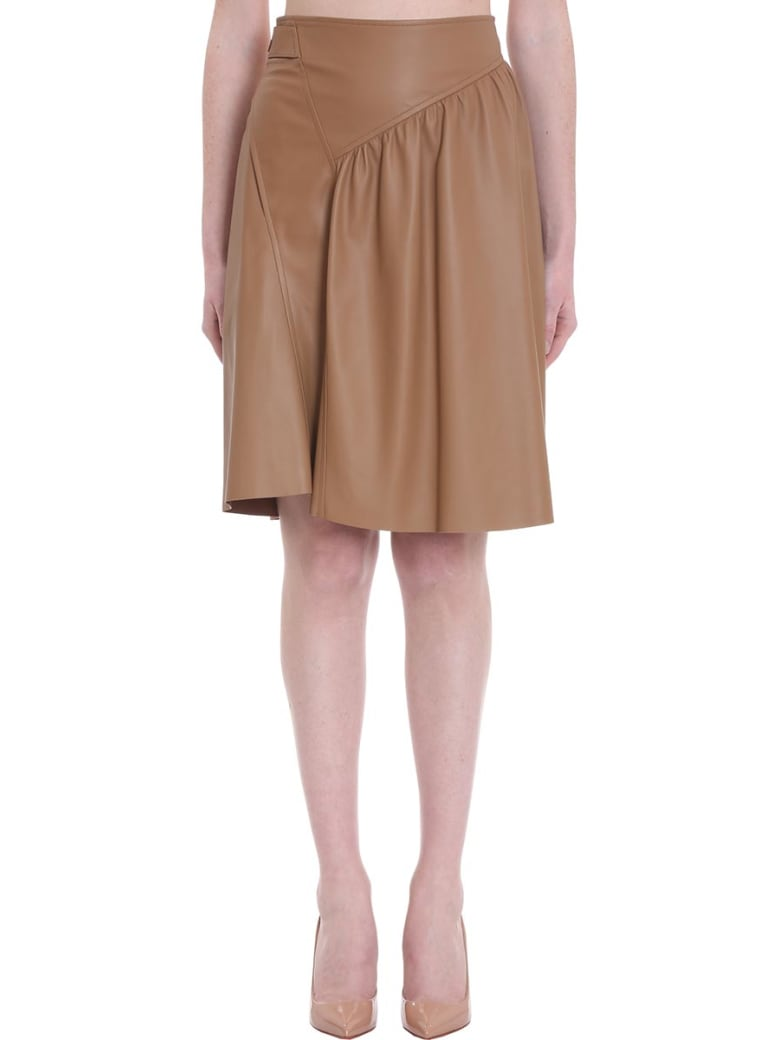DROMe Skirt In Leather Color Leather - leather color