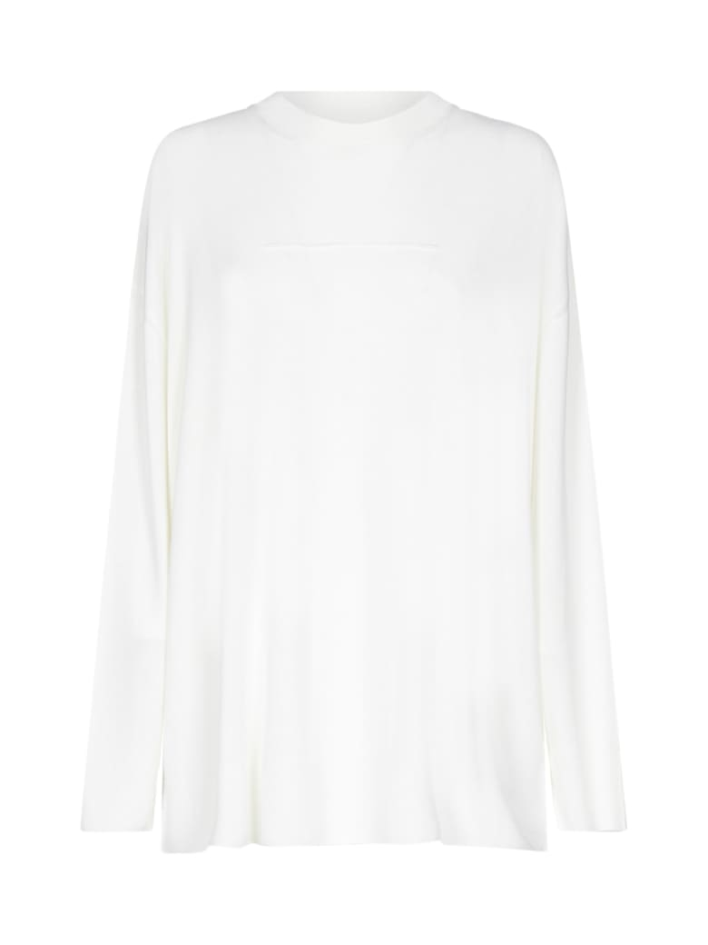 MM6 Maison Margiela Contrast Stitch Sweater - Off white
