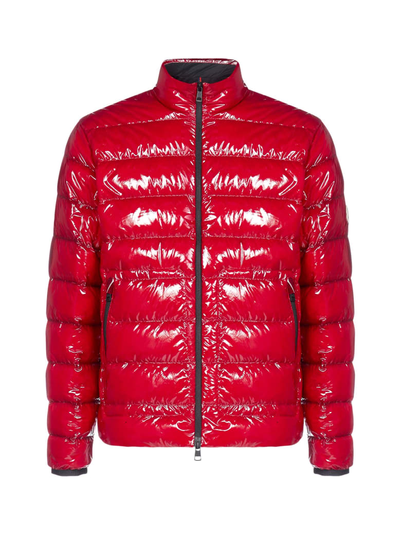 Moncler Agar Quilted Nylon Down Jacket - Rosso