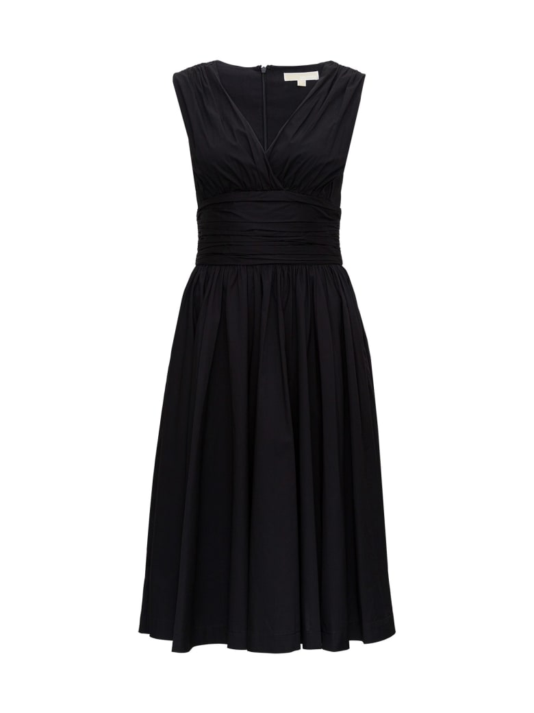 MICHAEL Michael Kors Poplin Longuette Dress - Nero