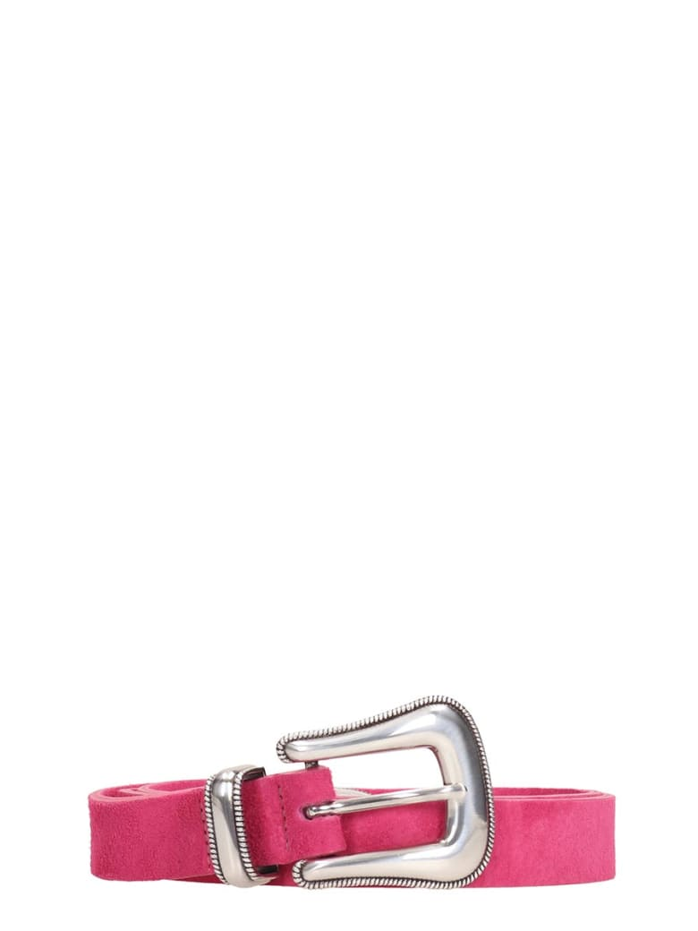 B-Low the Belt Wylder Leather Belt - fuxia