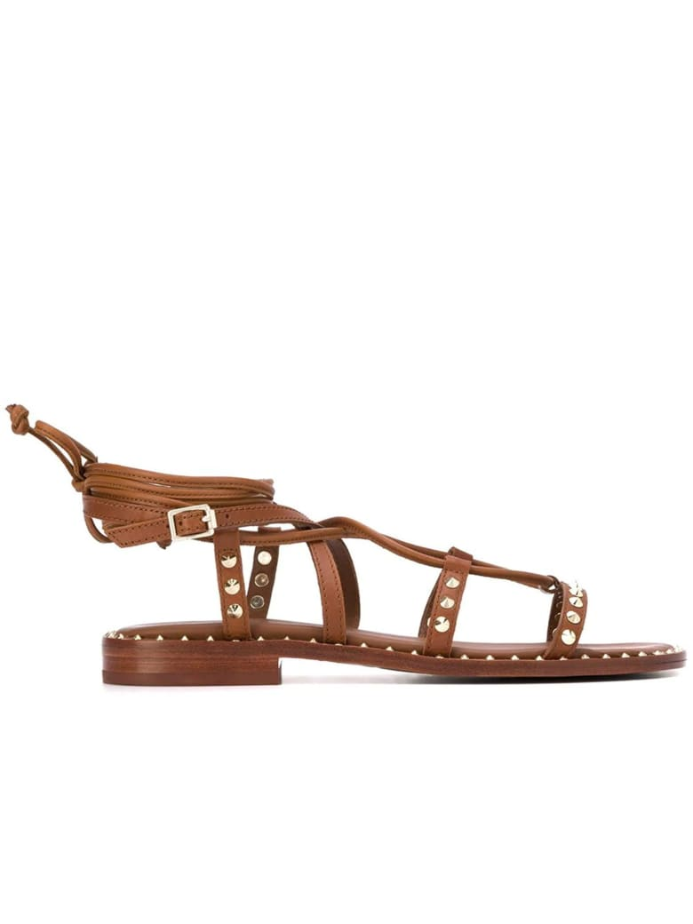 Ash Princess 002 Brown Leather Sandals - BROWN