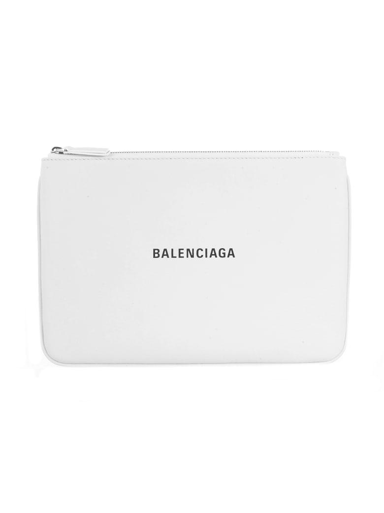 Balenciaga Everyday Pouch - Blanc Optique Noir