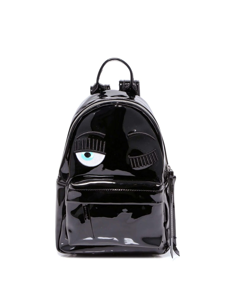 Chiara Ferragni Backpack Vinyl Small - Black