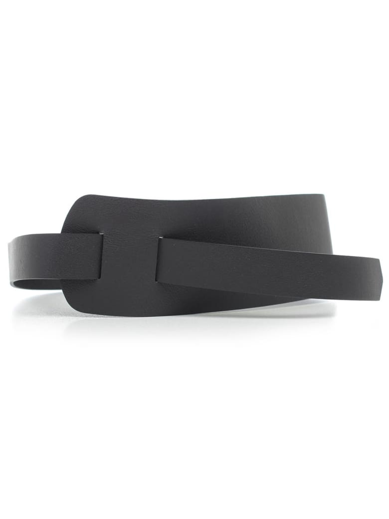 SEMICOUTURE Belt Anastasia W/knot - Nero