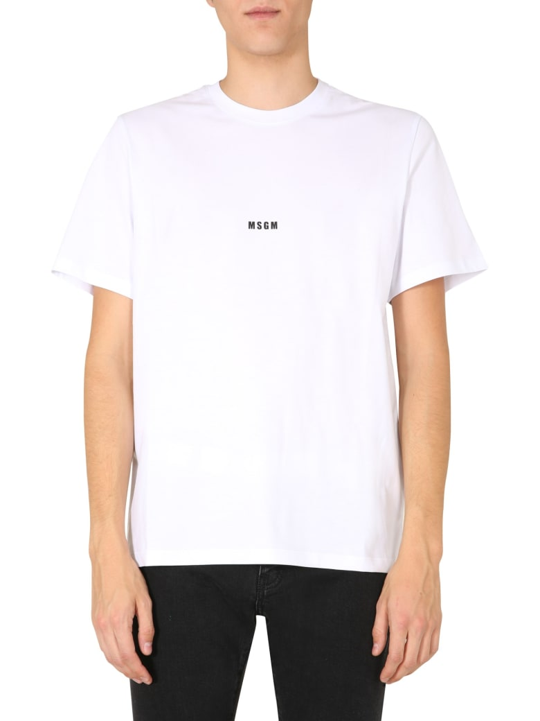 MSGM Crew Neck T-shirt - BIANCO