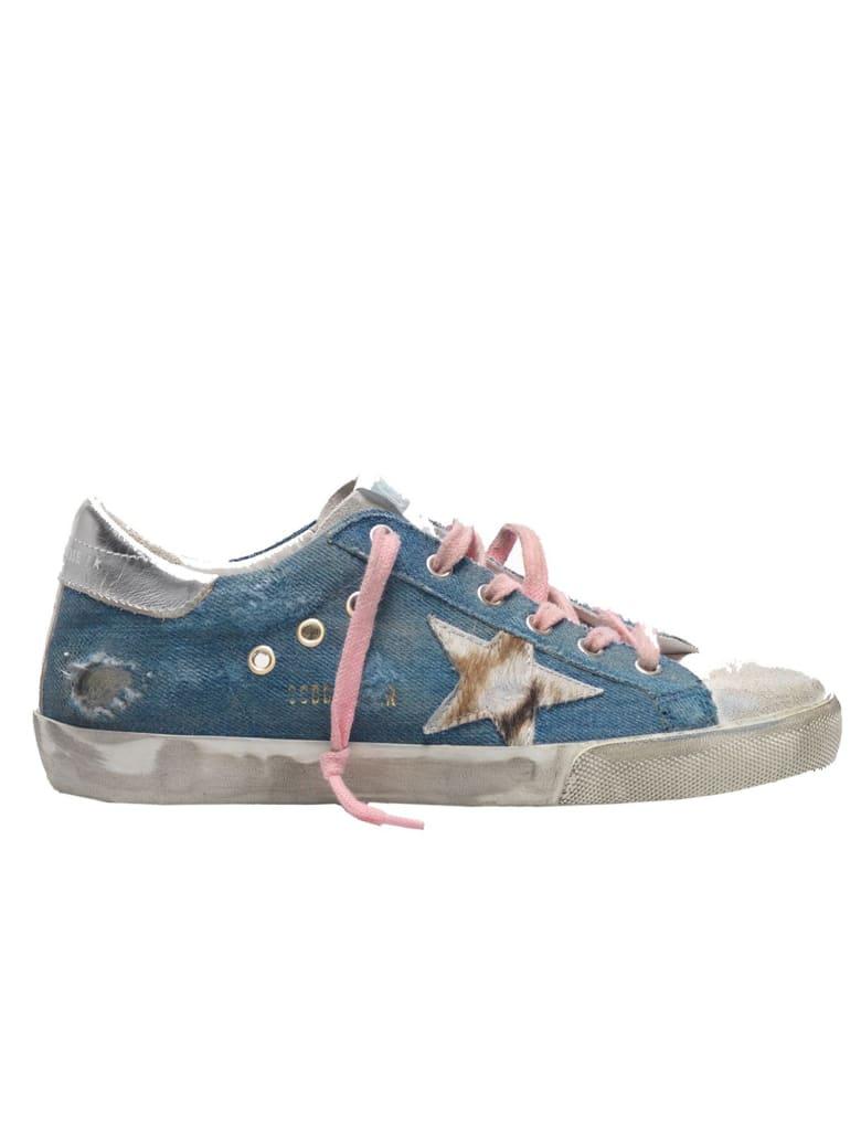 Golden Goose Denim Superstar Sneakers - Light blue denim