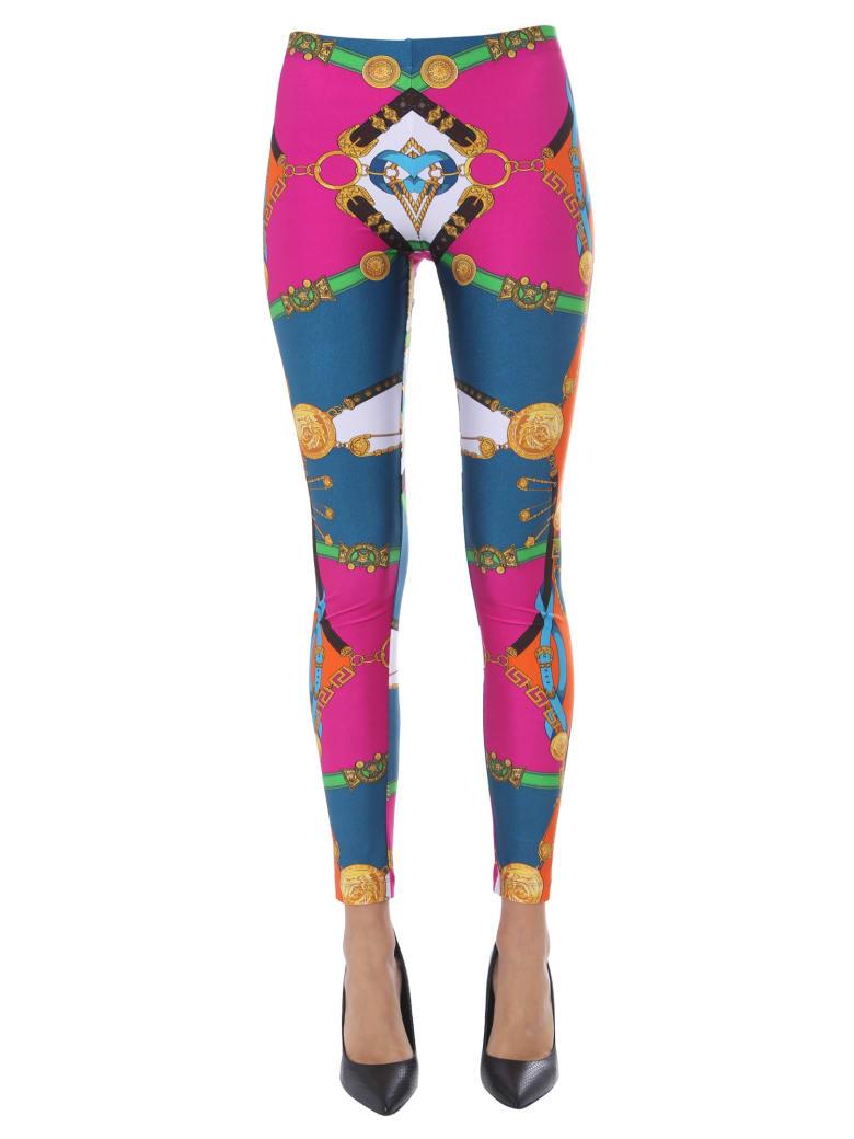 Versace Printed Leggings - FUCSIA