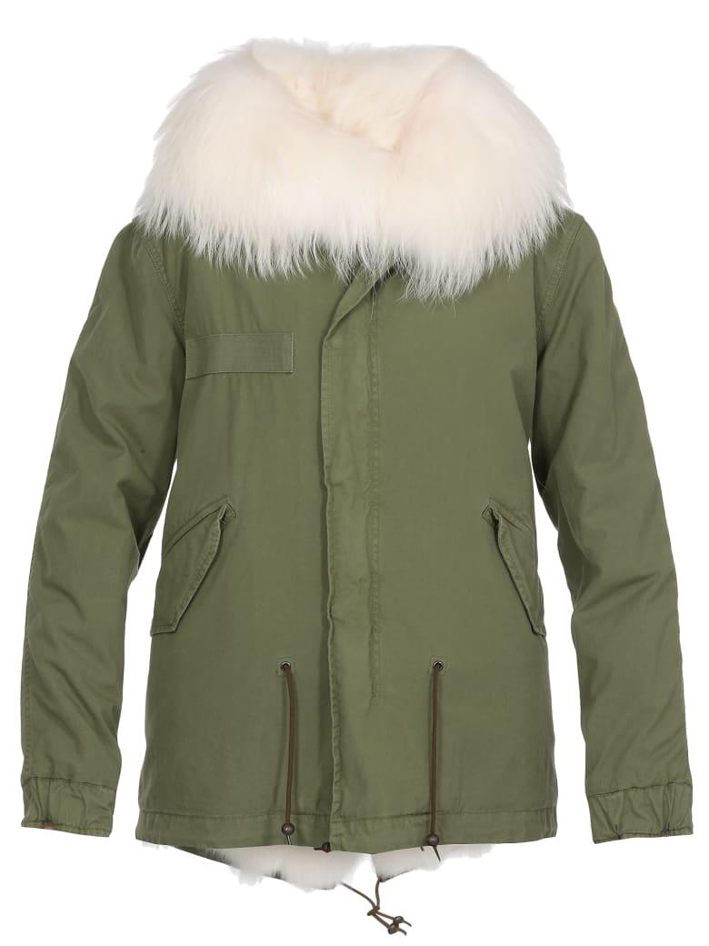 Mr & Mrs Italy Fur Parka - WHITE + GREEN