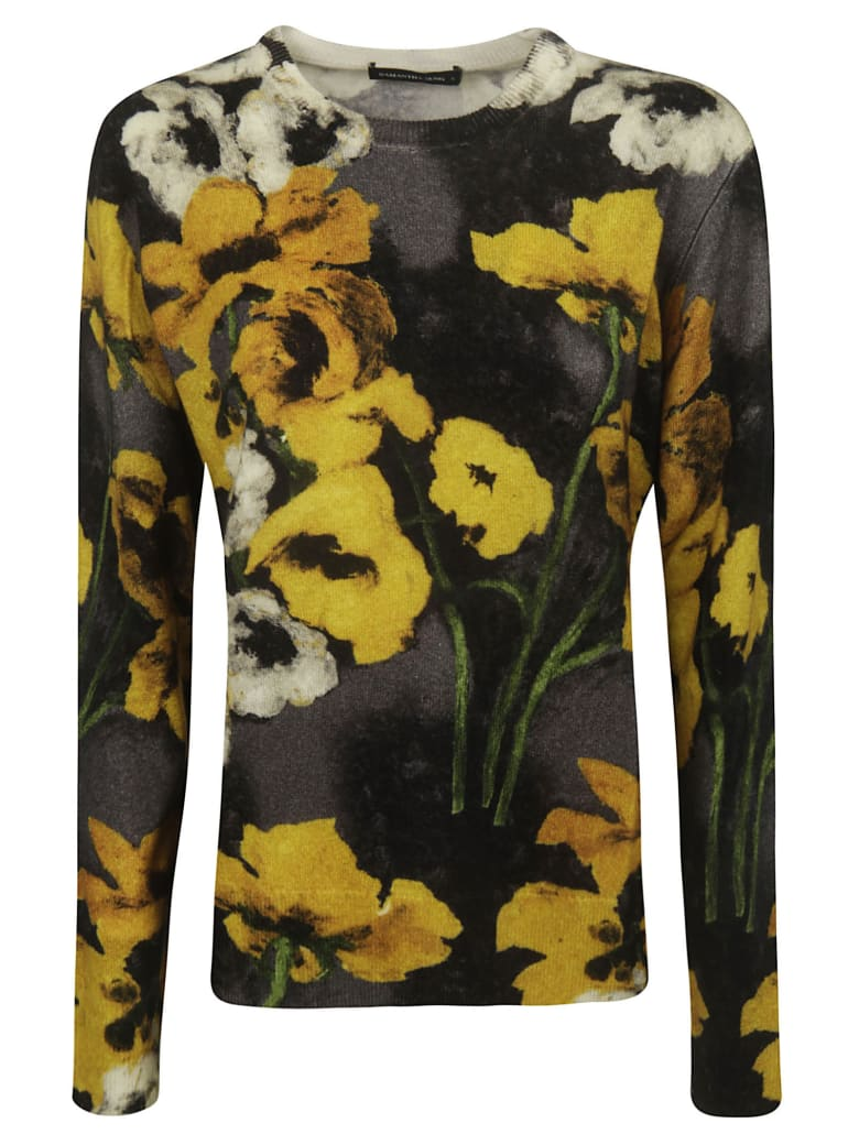 Samantha Sung Claiborne Pullover - Charcoal/Yellow