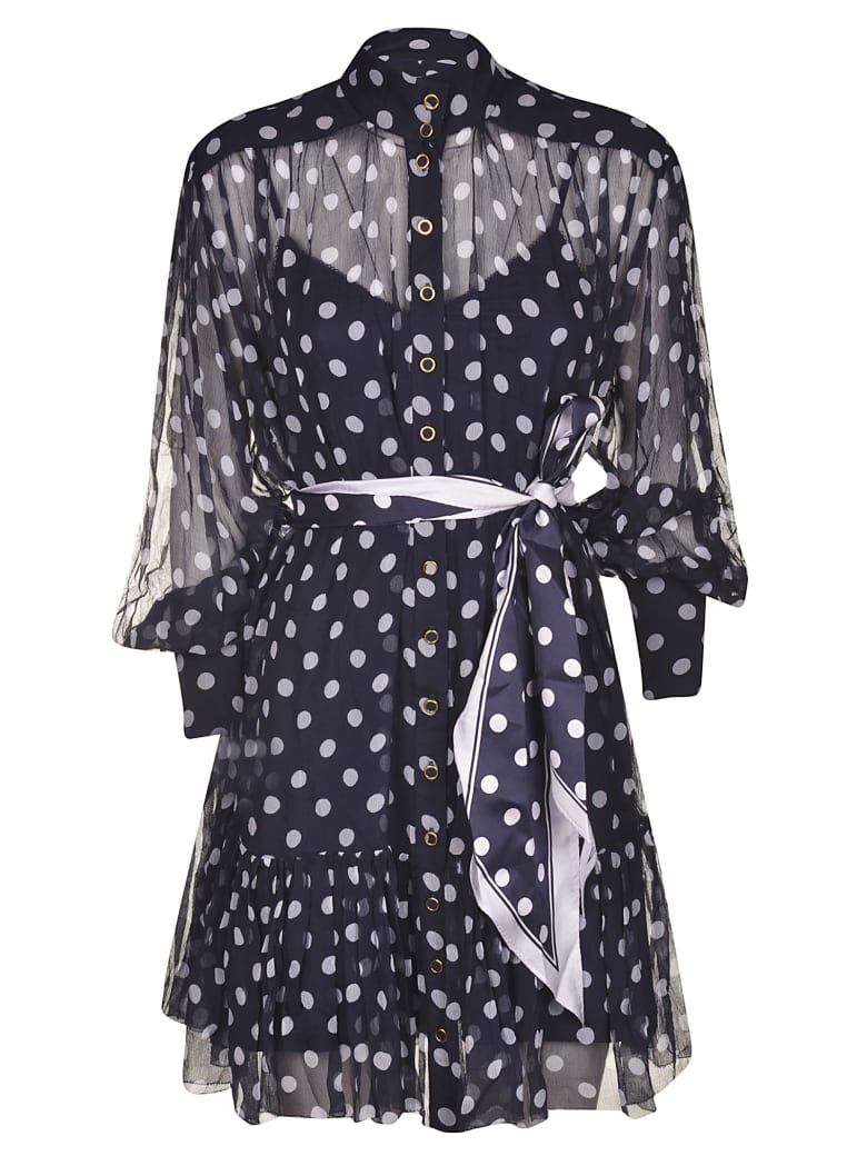 Zimmermann Sabotage Lantern Mini Dress - MIDNIGHT
