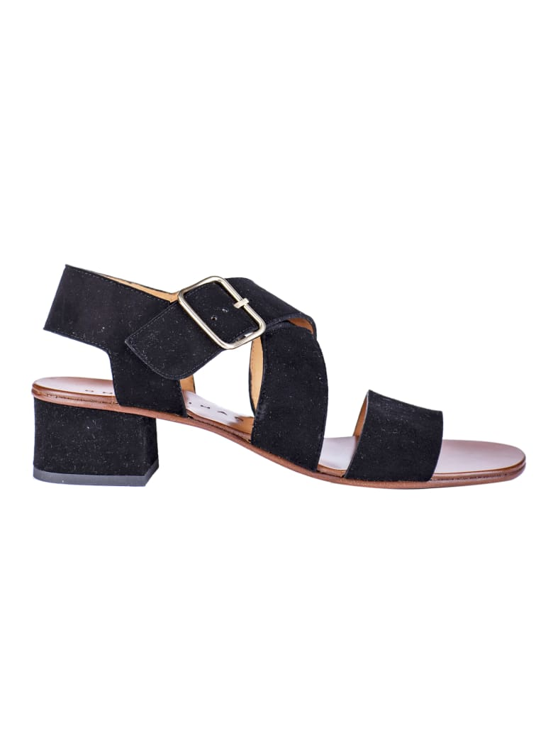 Chie Mihara Crossover Strap Sandals - Black