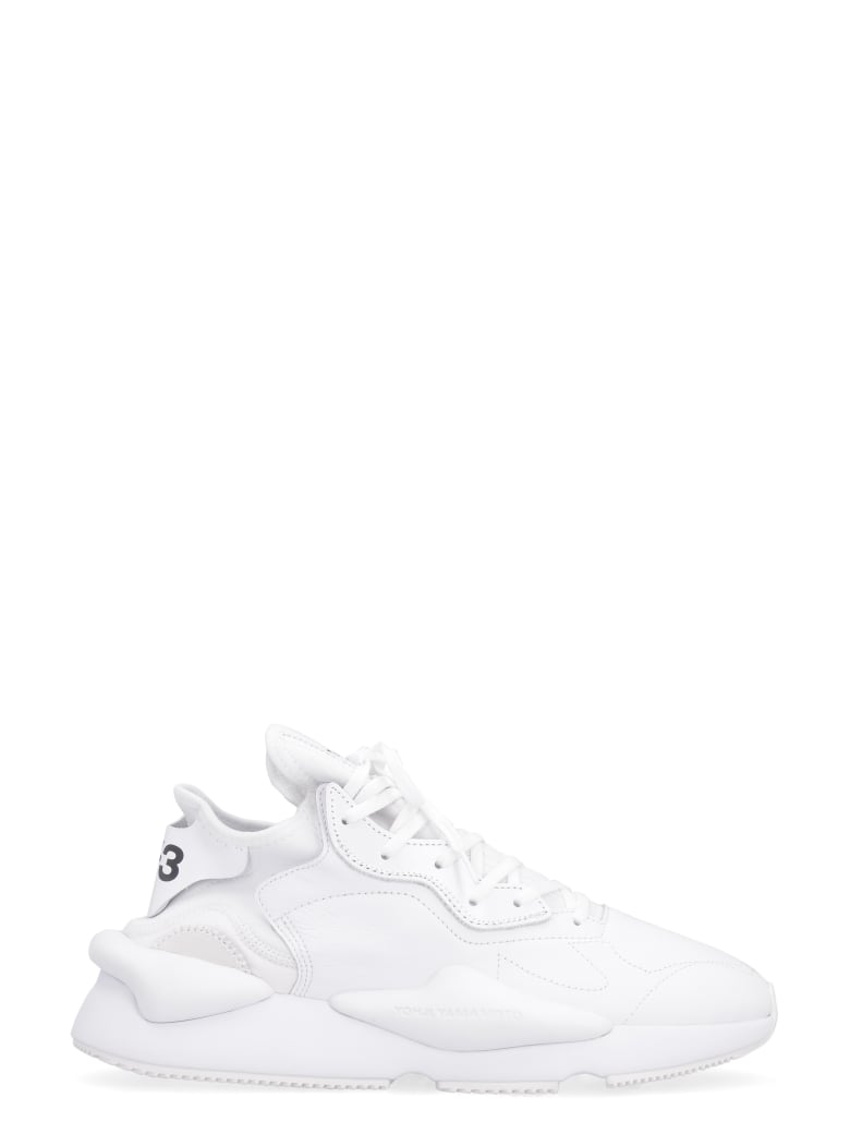 Y-3 Kaiwa Techno-fabric And Leather Sneakers - White
