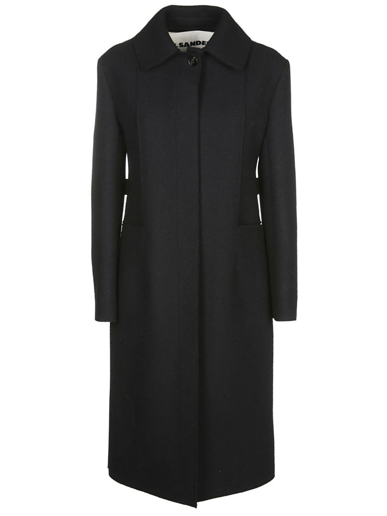 Jil Sander Single-breasted Coat - Navy