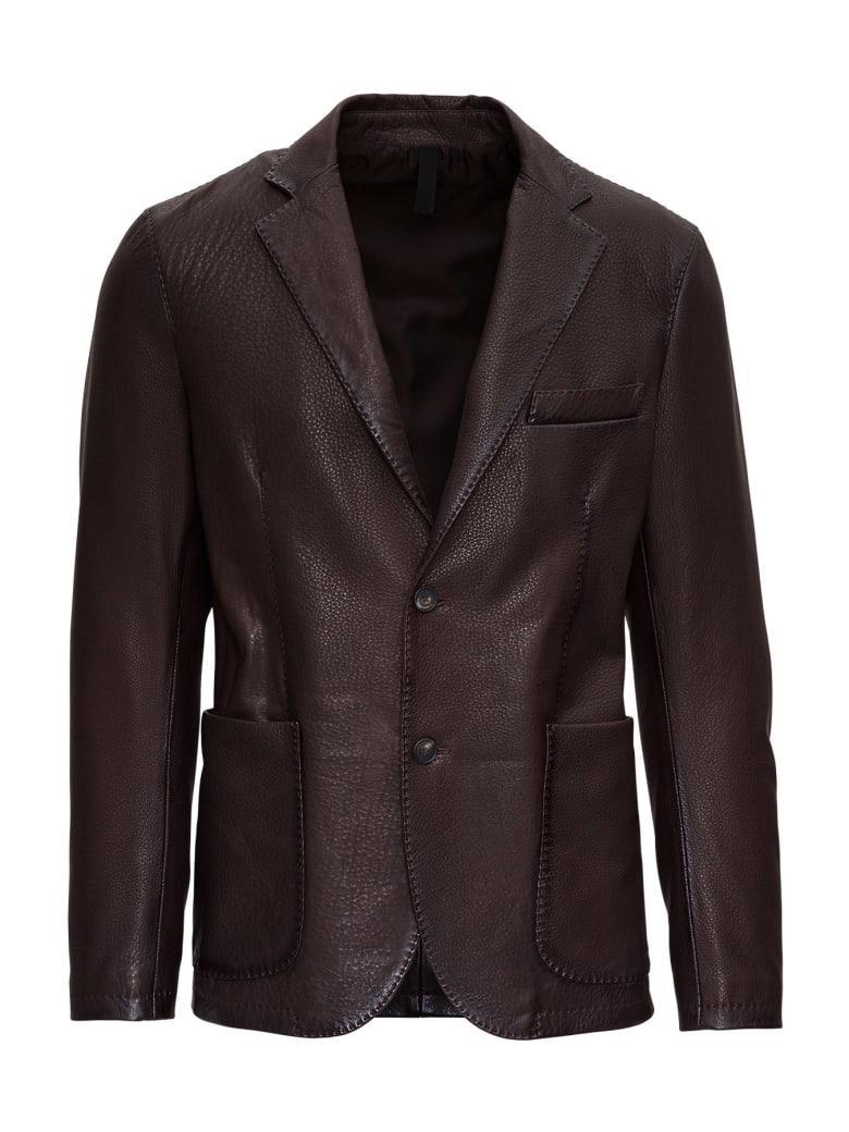 Tagliatore Carlton Leather Blazer - Brown