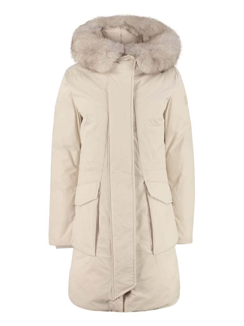 Woolrich Military Technical Fabric Parka - WHITE IGLOO