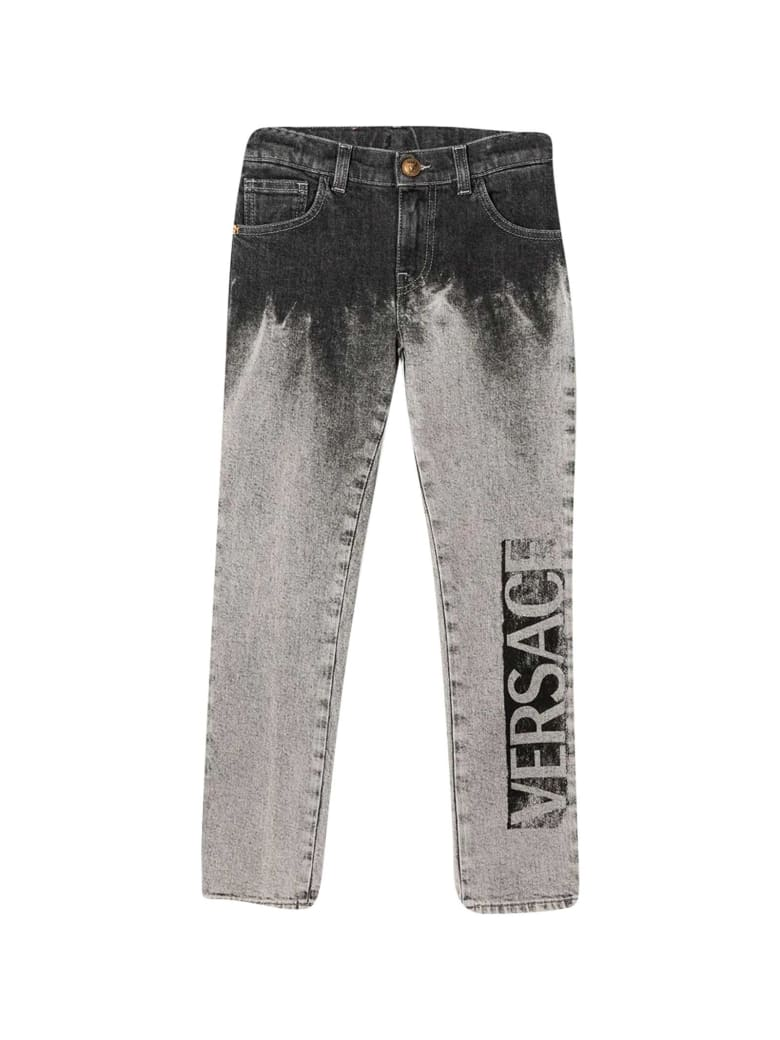 Young Versace Gray Jeans - Grigio chiaro