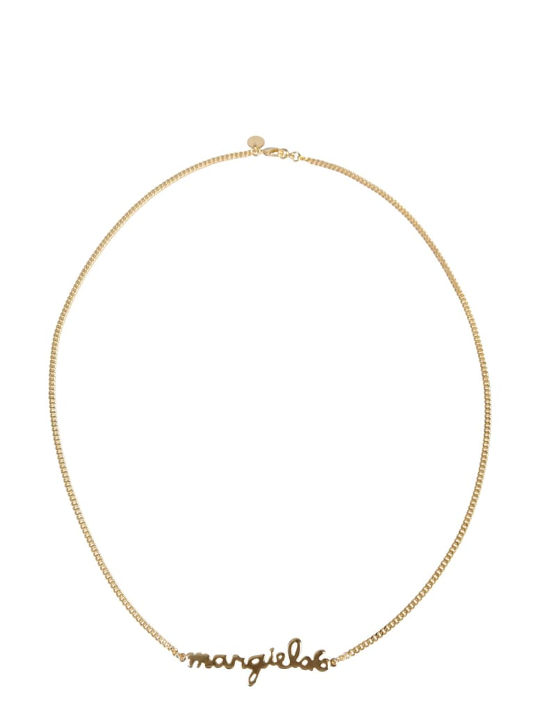 MM6 Maison Margiela Necklace With Lettering Logo - ORO