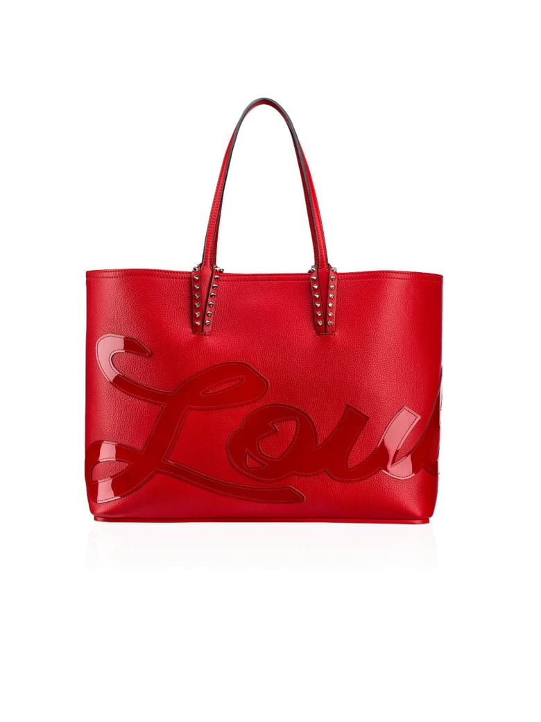 Christian Louboutin Red Leather Cabata Logo Tote - RED