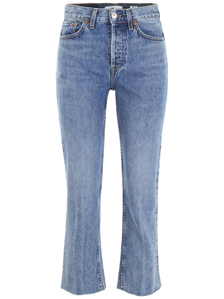 RE/DONE Straight Jeans - MEDIUM VAIN (White)