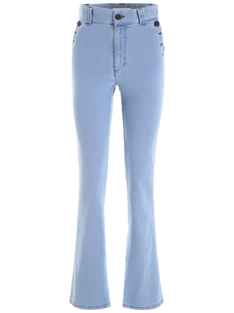 See by Chloé High-waisted Jeans - POETIC BLUE (Blue)