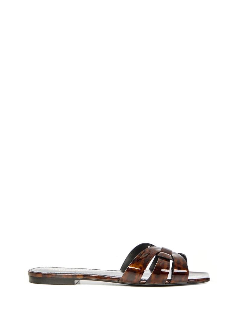 Saint Laurent Tribute Sandals - Brown