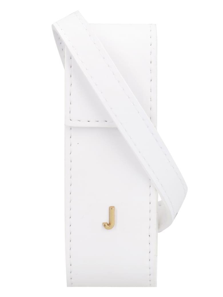 Jacquemus Leather Lipstick Holder - White