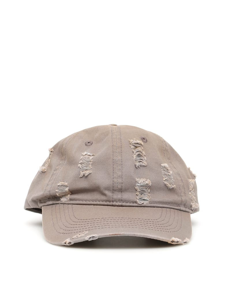 032c Destroyed Baseball Cap - GREY (Grey)