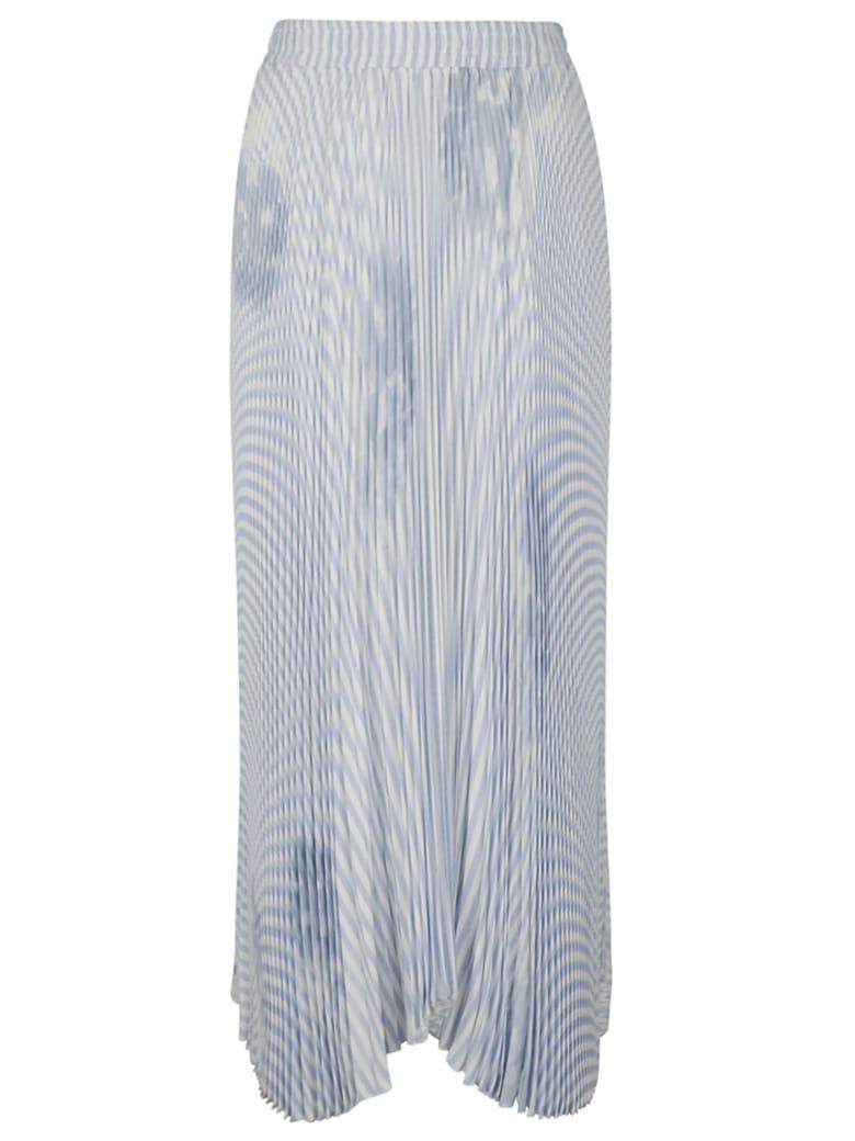 Ermanno Scervino Asymmetric Stripe Pleated Skirt - Multicolor