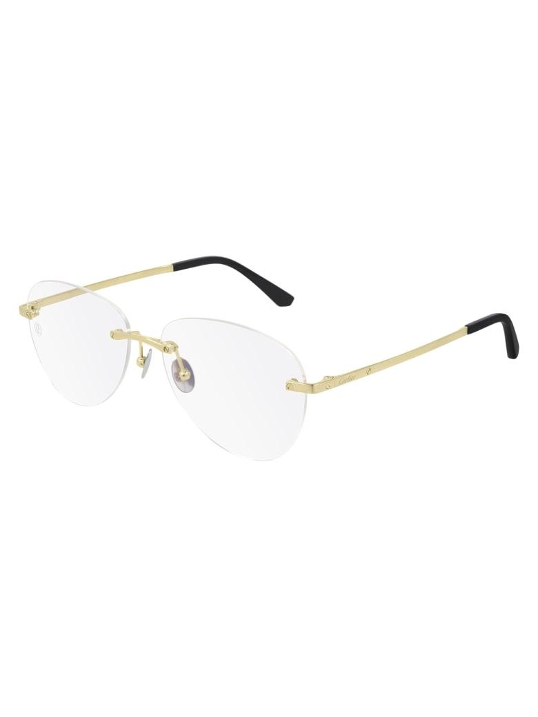 Cartier Eyewear CT0254O Eyewear - Gold Gold Transparent