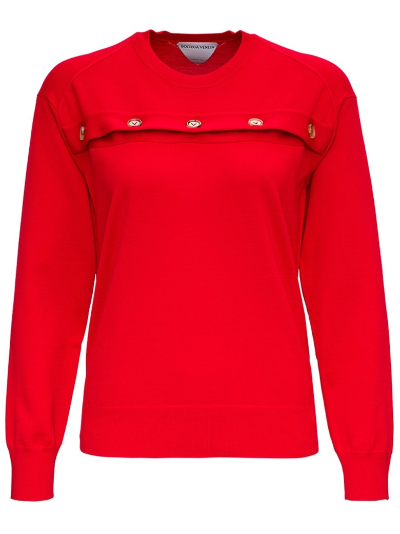 Bottega Veneta Red Merino Wool Sweater - Red