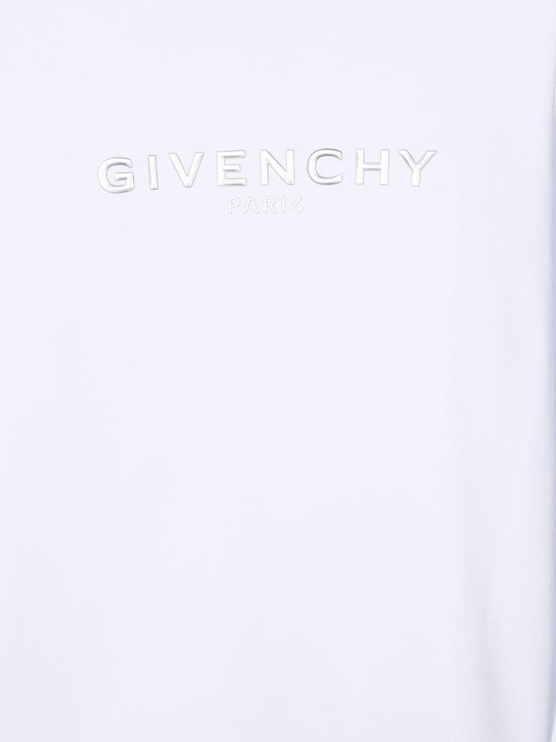 Givenchy White Jersey Sweatshirt With Logo - Bianco