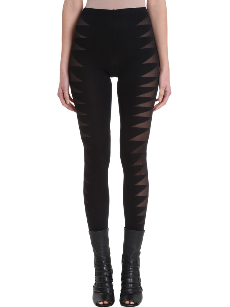 Rick Owens Lilies Black Technical Fabric Leggins - black