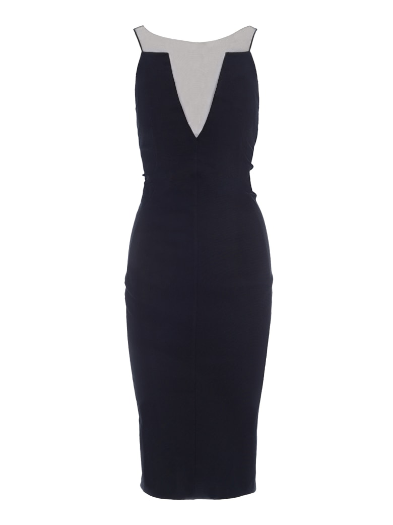 Rick Owens Mesh-panelled Dress - BLACK