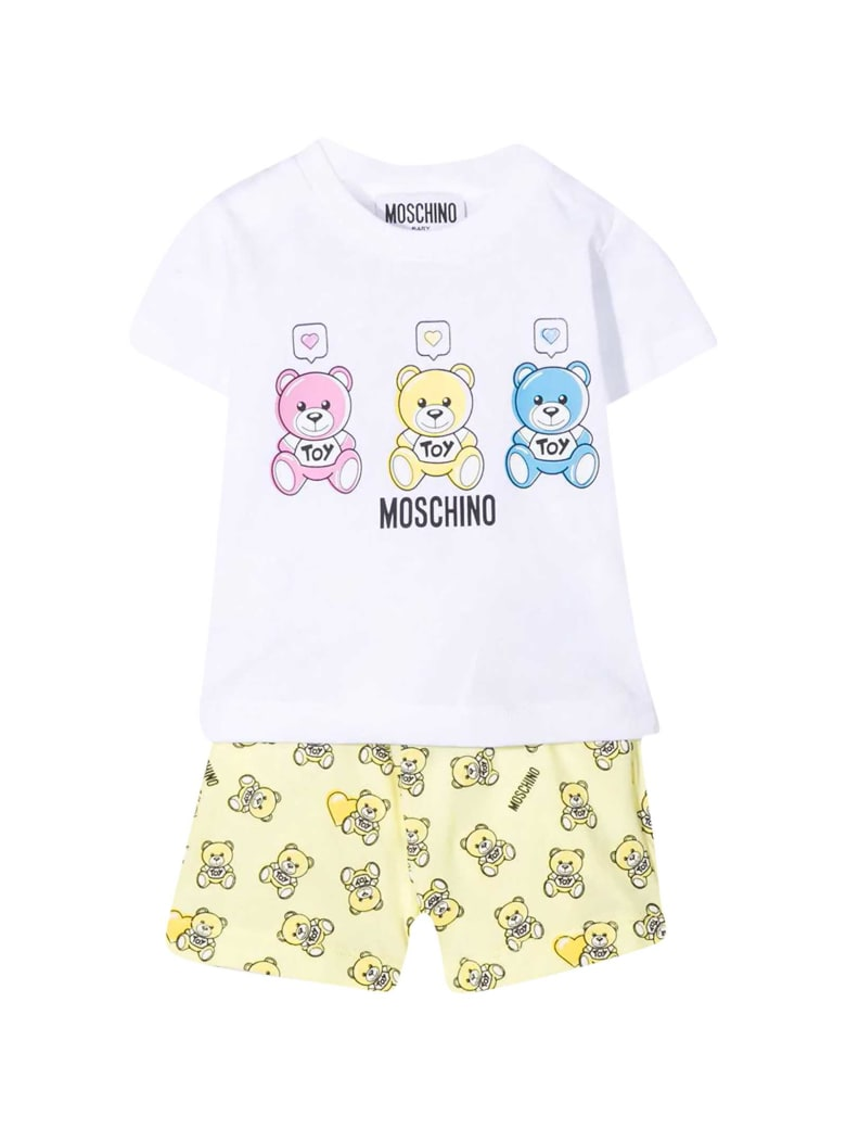 Moschino White T-shirt - Gialla