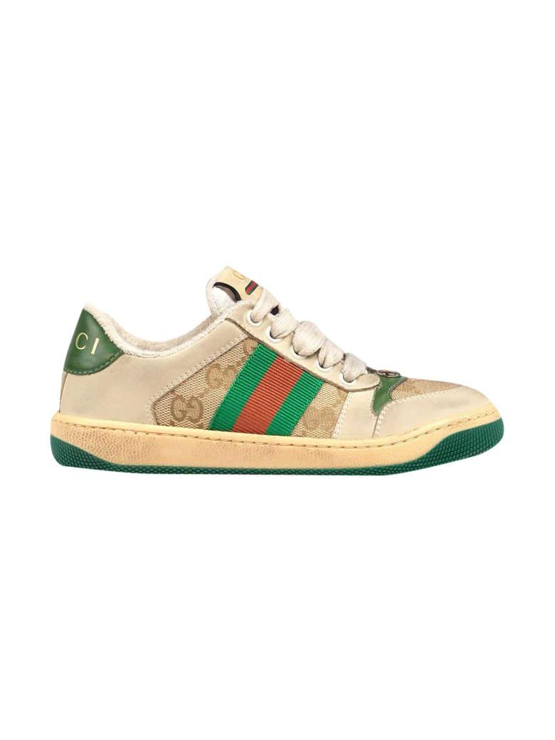 Gucci Gg Supreme Sneakers - Beige