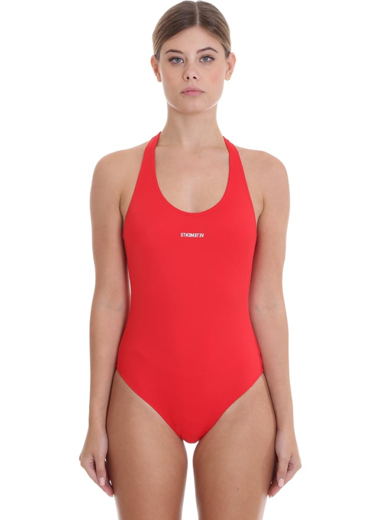 VETEMENTS Beachwear In Red Polyamide - red