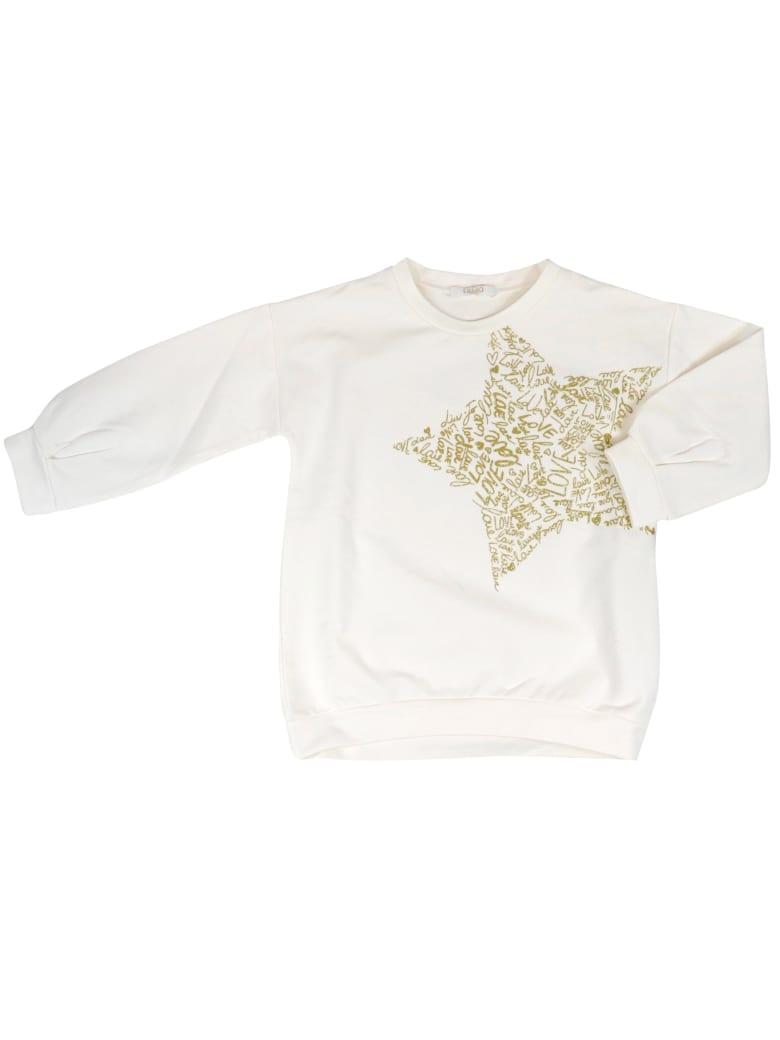 Liu-Jo Cotton Sweatshirt - WHITE