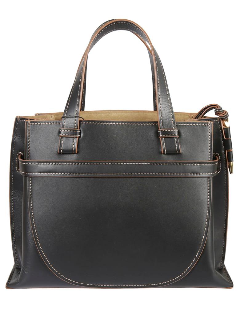 Loewe Small Gate Top Handle Shoulder Bag - Black/Tan