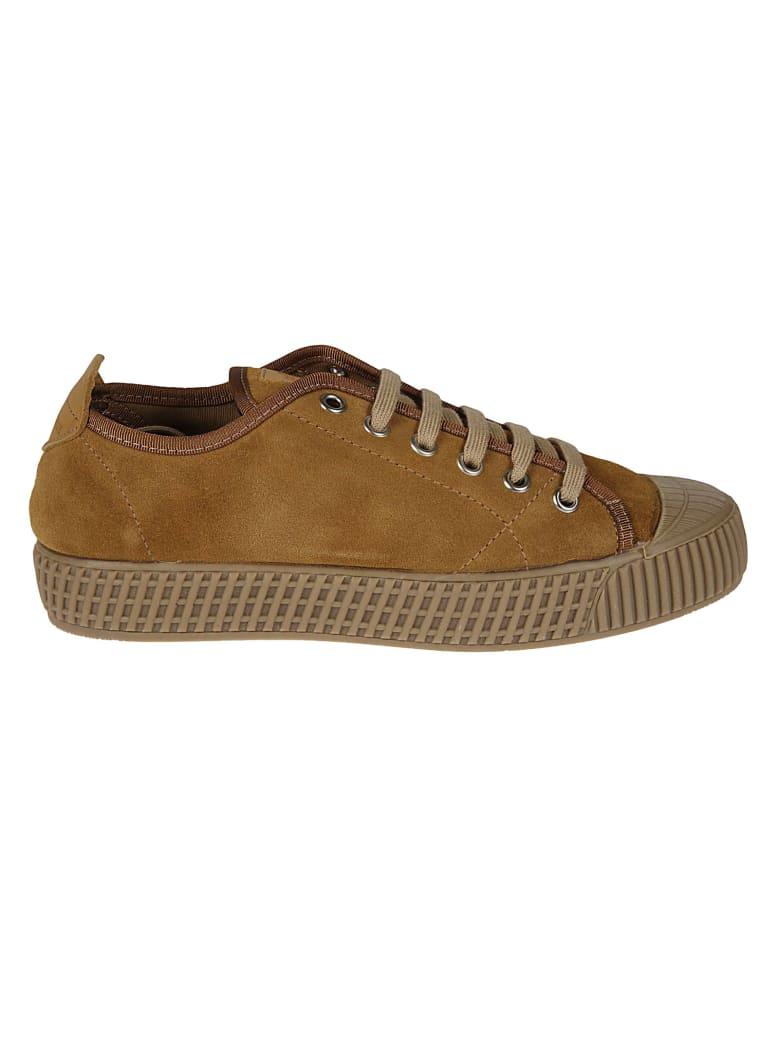 Car Shoe Low-top Laced Sneakers - Cognac