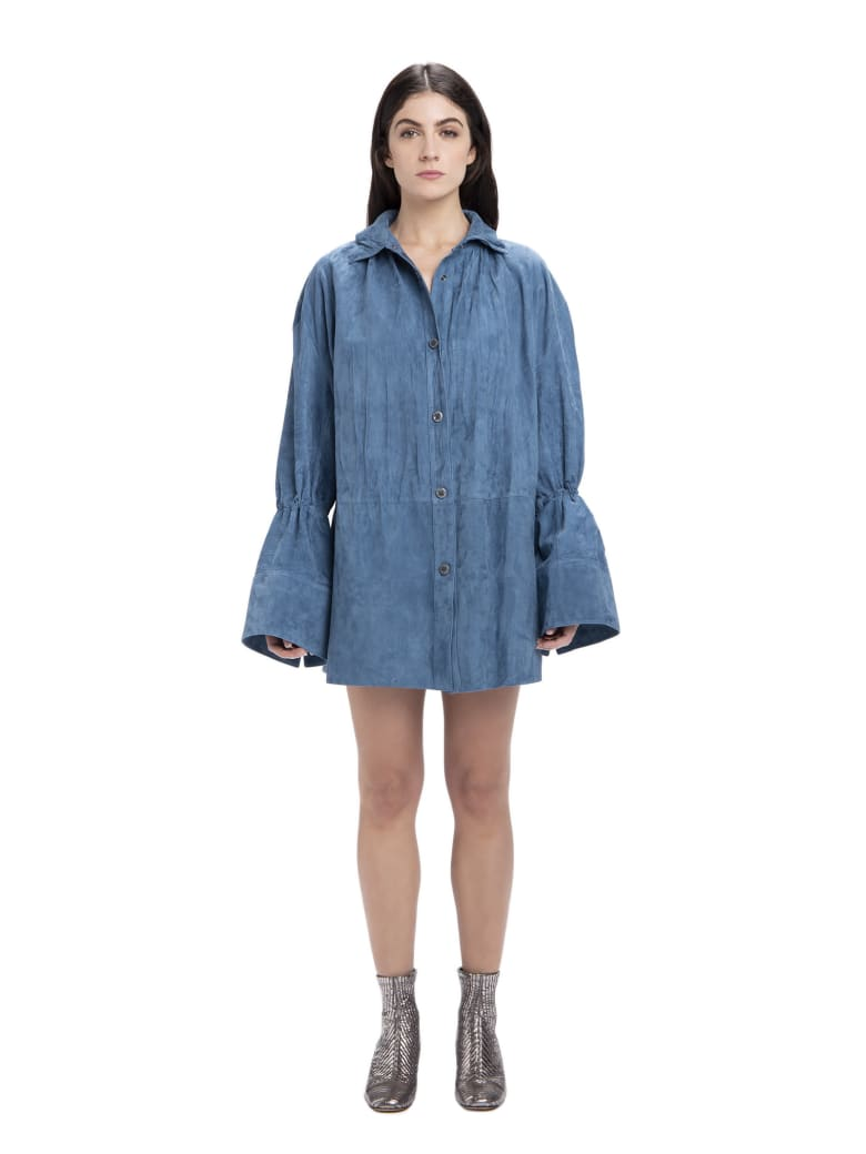 Acne Studios Button-up Shirt - Teal Blue
