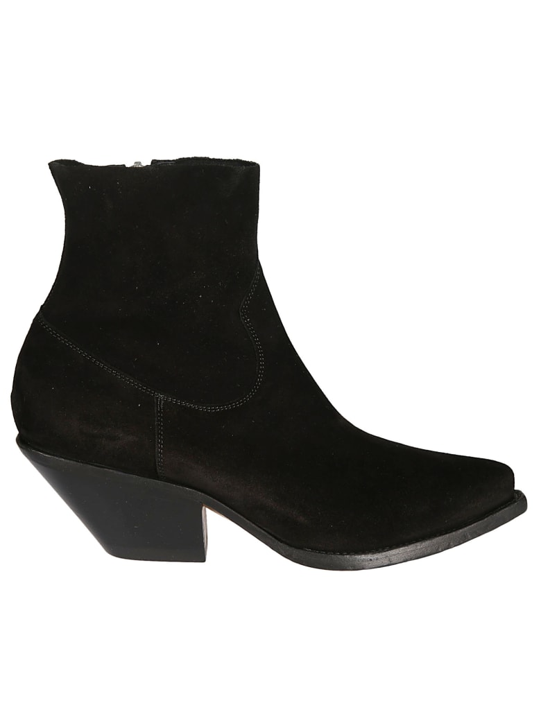 Buttero Zipped Ankle Boots - Nero