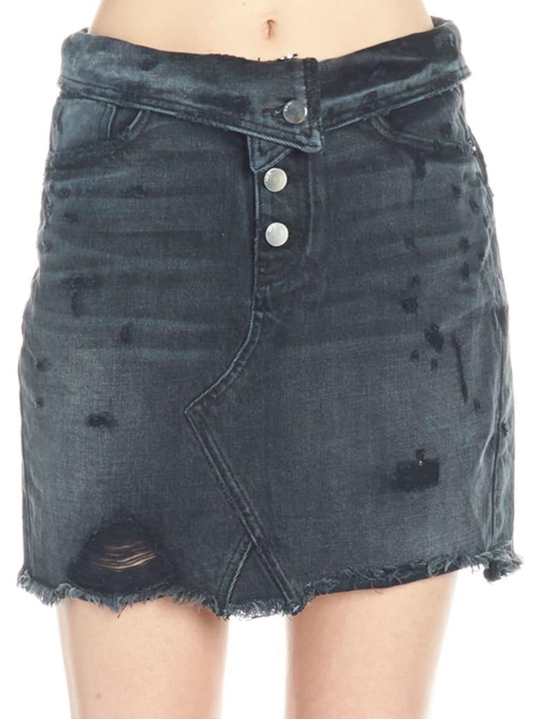 AMIRI 'fold Over' Skirt - Black
