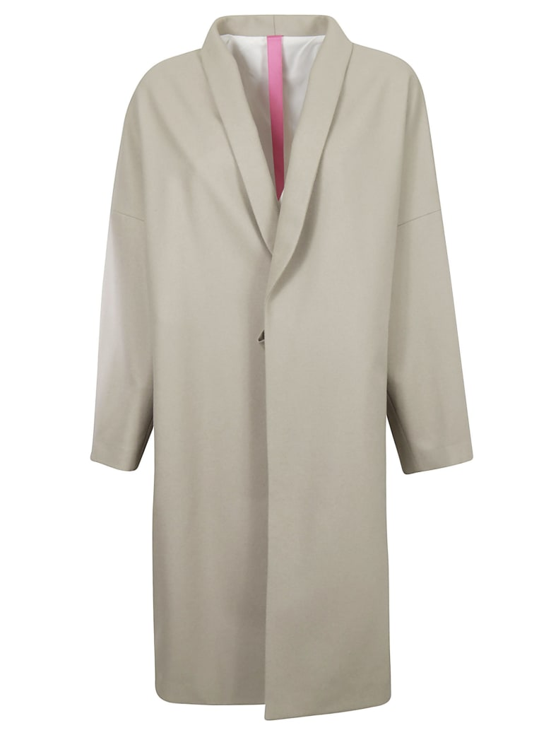 Y's Buttoned Coat - Natural