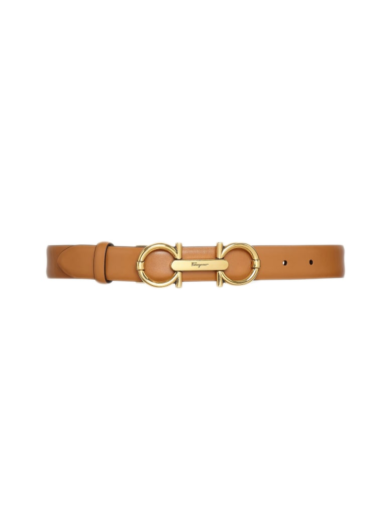 Salvatore Ferragamo Brown Leather Belt - Cuoio