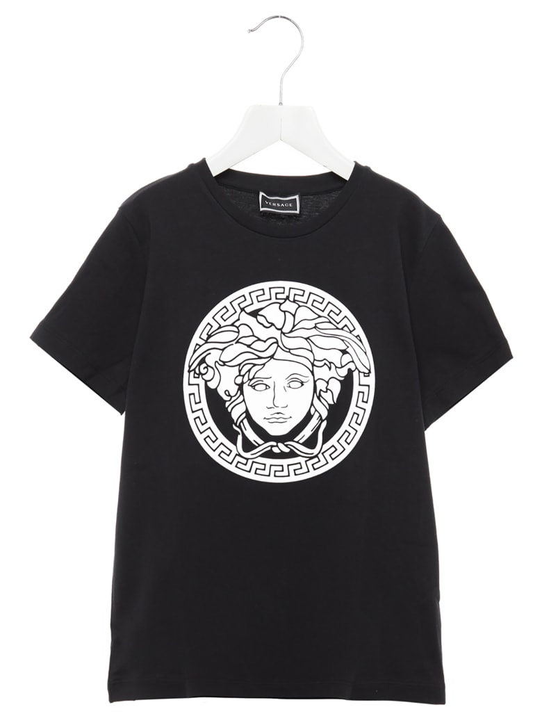 Young Versace 'medusa' T-shirt - Black