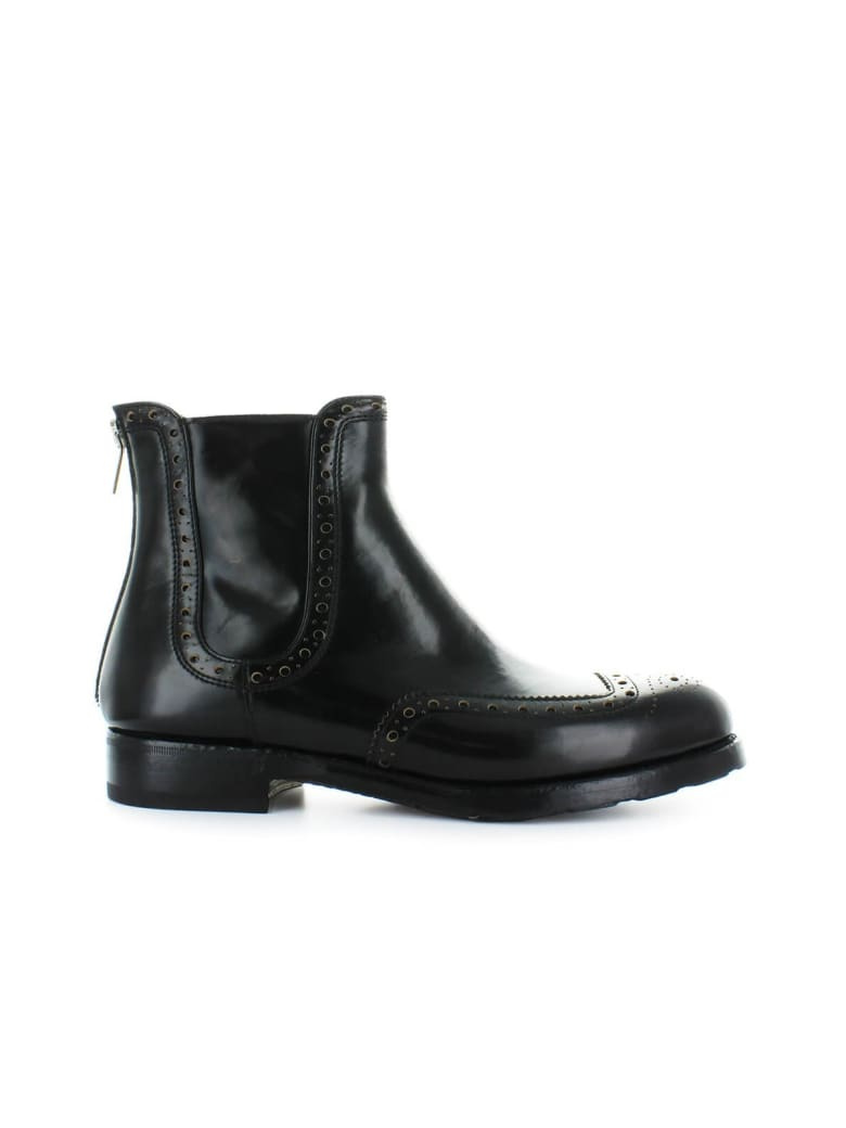 Barracuda Black Leather Chelsea Boot - Nero (Black)