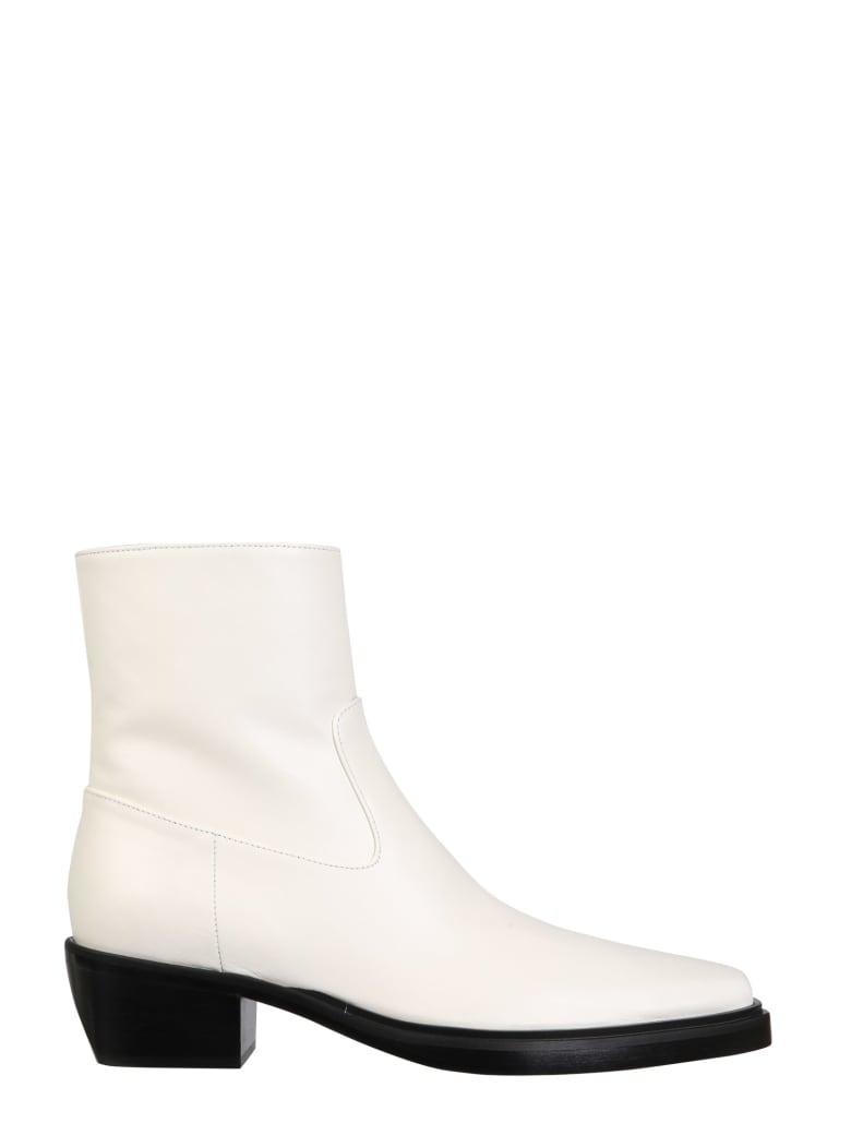 GIA COUTURE Texan Boots - BIANCO