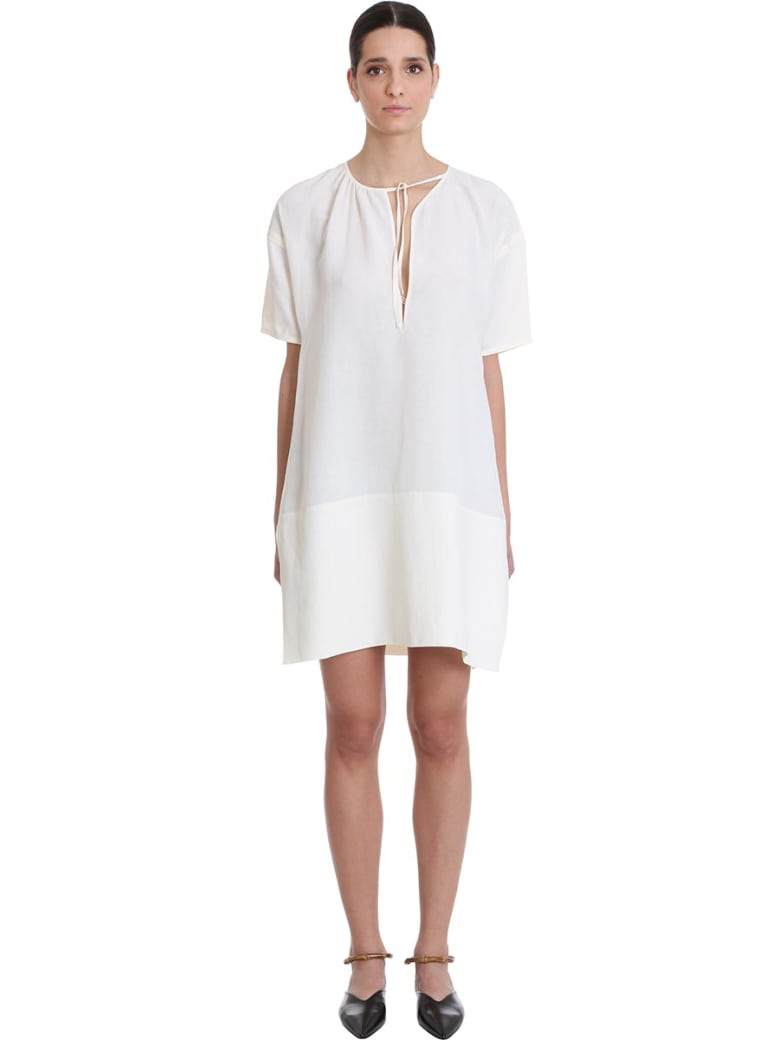 Jil Sander Meredith Dress In White Viscose - white